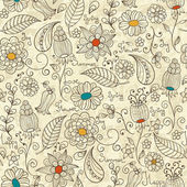 Vector Seamless Floral Patterns — Stock vektor