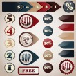 Vector Set of Labels — Wektor stockowy #23783883