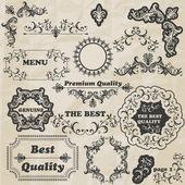 ベクターの花のデザイン要素 — ストックベクタ