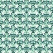 Vector seamless paisley pattern, — Stock Vector