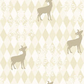 Christmas Pattern with deers — ストックベクタ