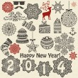 Vector Christmas  and New Year Design Elements — Stock Vector