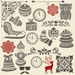 Vector Christmas Design Elements — Stockvectorbeeld