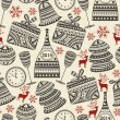Vector Seamless Holiday Pattern — Stock Vector