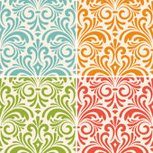 Vector seamless floral vintage patterns — Stock Vector