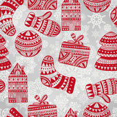 Vector Bright Seamless Winter Pattern — Stock Vector