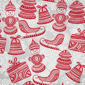 Vector Bright Seamless Winter Pattern — Stok Vektör