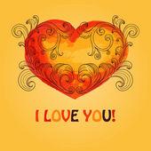 Vector Valentine's Greeting Card — Stok Vektör