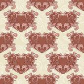 Vector valentine's seamless romantic background — Stock Vector