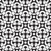Vector seamless abstract monochrome pattern — Stock Vector