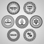 Vektor-vintage-etiketten — Stockvektor