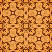 Vektorové bezešvé zlatým květinovým vzorem — Stock vektor