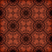 Vector Seamless  Red Floral  Pattern — Stock Vector