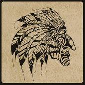 Native american indian chef — Vecteur