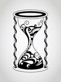 Vector Tattoo Hourglass — ストックベクタ