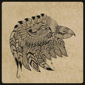 Vector Tattoo Eagle Head — Stock Vector