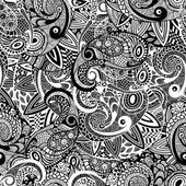 Vector Seamless Paisley Doodle Pattern — Stock Vector