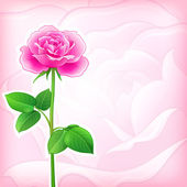 Fondo flor - rosa — Vector de stock