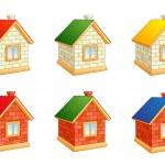 Brick houses — Stock Vector #23007158