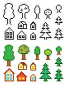 Homes and trees — Stock Vector