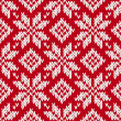 图库矢量图片: Nordic knitted seamless pattern