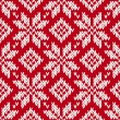 Cтоковый вектор: Nordic knitted seamless pattern