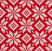 Nordic knitted seamless pattern — Vetor de Stock