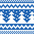 Seamless winter pattern (blue) — Stock Vector #36884331