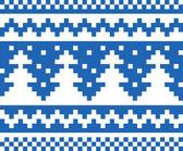 Seamless winter pattern (blue) — Vettoriale Stock