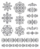 Ornamental elements — Stock Vector