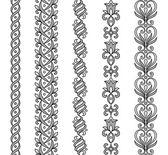 Bordi ornamentali — Vettoriale Stock