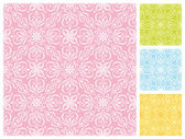 Seamless floral pattern in different pastel color schemes — Stock Vector