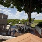 Deckchairs and wine — Stock Photo #2495458