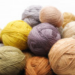 Stock Photo: Colorfull wooll yarn balls