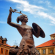 Siren Monument, Old Town in Warsaw, Poland — Stock Photo #25611707