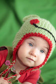 Baby in funny hat — Stock Photo