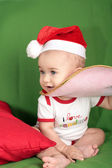 Sweet baby Santa Claus — Stockfoto