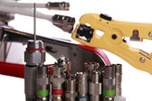 Tools for coax cable — Stock Photo