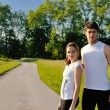 Young couple jogging — Stock Photo #12436559