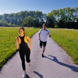 Young couple jogging — Stock Photo #12437462