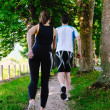 Young couple jogging — Lizenzfreies Foto