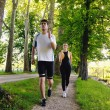 Young couple jogging — Stock Photo #12439773