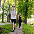 Young couple jogging — Stock Photo #12439926