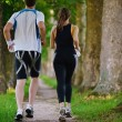 Young couple jogging - 图库照片