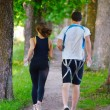 Young couple jogging - Foto de Stock