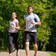 Young couple jogging - Photo