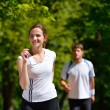 Young couple jogging — Stock Photo #12443633
