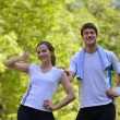 Young couple jogging — Stock Photo #12519820