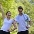 Young couple jogging — Stock Photo #12519988