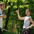 Young couple jogging — Stock Photo #12523221